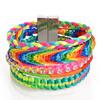 New Fashion Bohemia vintage style jewelry bracelet handmade crystal beads leather wrap charm bracelets & bangles Gifts Sold by PC