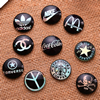Fashion Mixed Style Round Glass Cabochon Dome Cameo Jewelry Finding 20mm Sold by PC