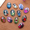 Fashion Mixed Style Oval Glass Cabochon Dome Cameo Jewelry Finding 13x18mm Sold by PC