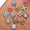 Fashion Mixed Style Square Glass Cabochon Dome Cameo Jewelry Finding 25x25mm Sold by PC