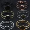 Fit 25mm cabochons Vintage Copper Round Blank Setting Bezel Cabochon Bracelet Base For DIY Bangle sold by PC