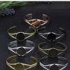 Fit 25mm Copper Bracelet Base Bangle Blank Round Vintage Pattern For DIY Bangle Bracelets Tray Sold by PC