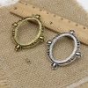 Fit 30x40mm Cabochon Antique Silver/gold Frame Bezel Settings Pendant Tray blank Base sold by PC